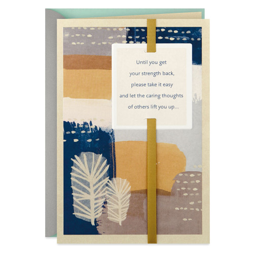 Abstract Painting Take It Easy Get Well Card