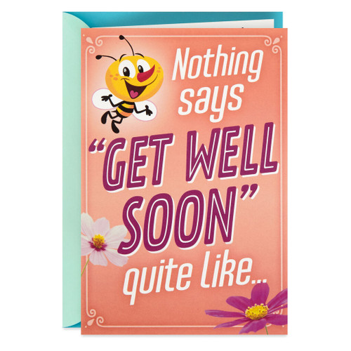 Bee Well Soon Funny Pop Up Get Well Card
