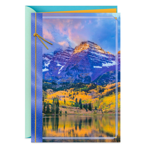 Majestic Purple Mountains Blank Thinking of You Card
