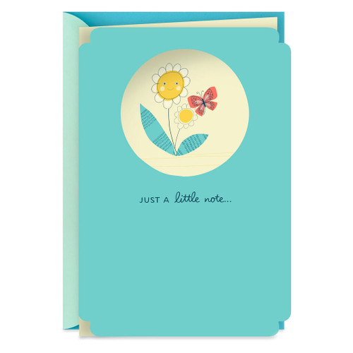 Smiling Flower and Butterfly Encouragement Card