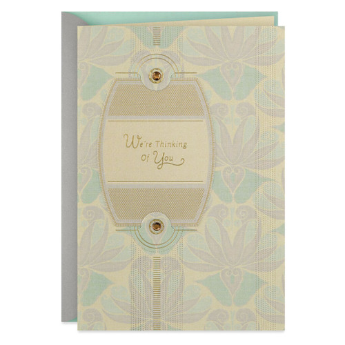 Art Deco Pattern We're Thinking of You Get Well Card