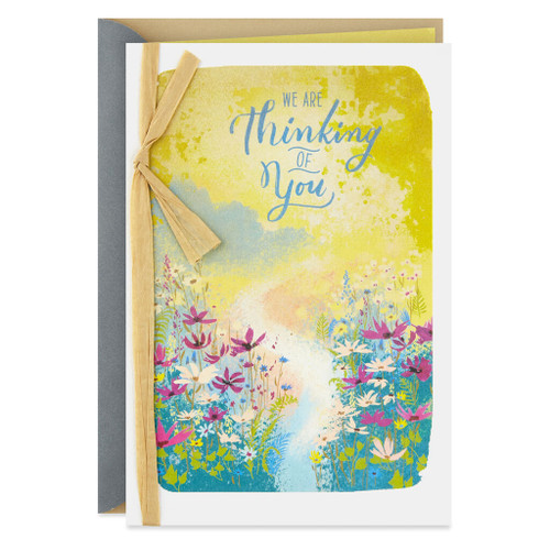 Cheerful Thoughts and Wishes Get Well Card from Us