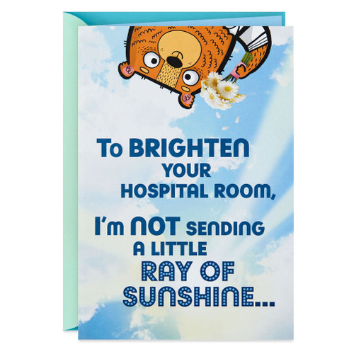 Brightening Your Hospital Room Funny Get Well Card