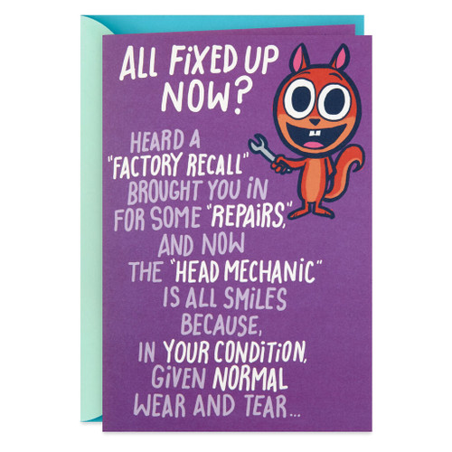 Good for 100,000 More Miles Funny Pop-Up Get Well Card