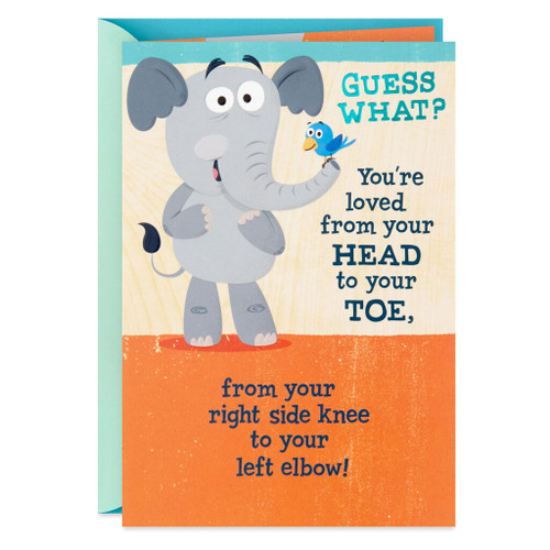 Loved From Head to Toe Religious Encouragement Card for Kids