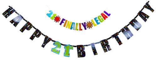 21st Birthday Letter Banner