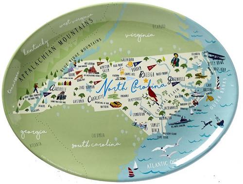 """North Carolina - 16"""" Platter"""