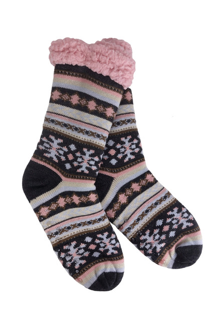 Great Northern Color Sherpa Thermal Slipper Socks