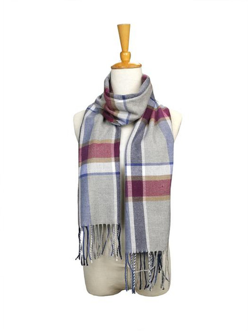 London Berry Plaid Scarf