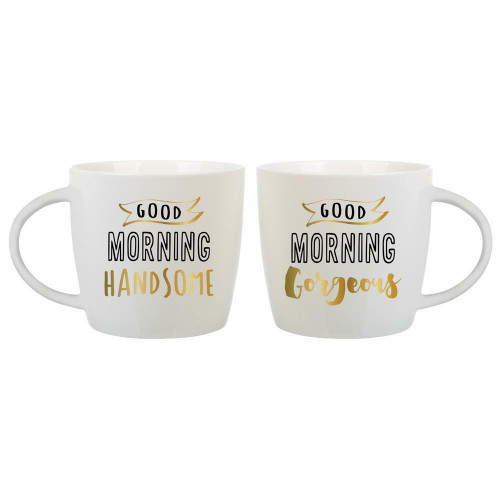 Good Morning Handsome/Good Morning Gorgeous Mugs Set