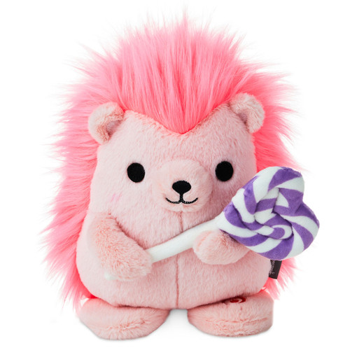 Sweet Treat Hedgehog Singing Stuffed Animal with Motion, 8""