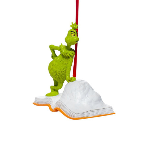 Grinch Open Book Ornament