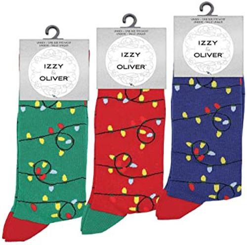Izzy & Oliver Christmas Lights Socks - 1 Pair