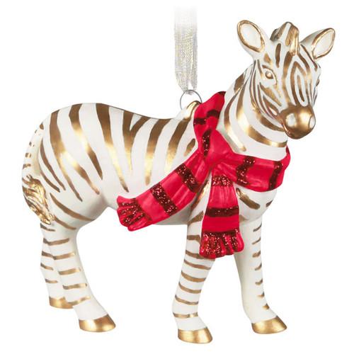 Elegant Zebra Porcelain Ornament