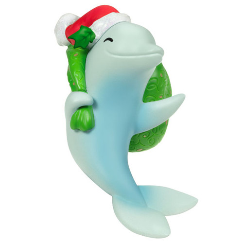Here Comes Dolphin Claus Musical Ornament