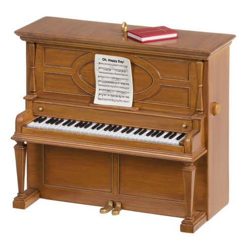 Oh Happy Day Piano Musical Ornament
