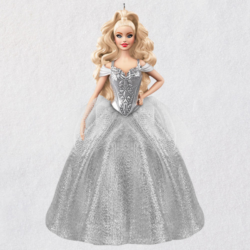 2021 White Holiday Barbie™ Doll Ornament
