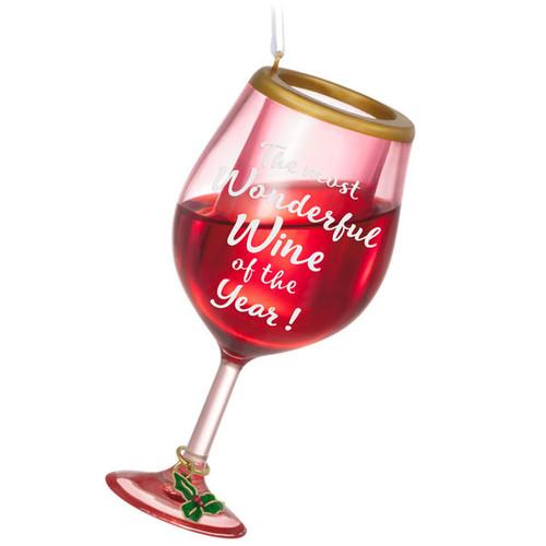 Wine Time Wine Glass Ornament