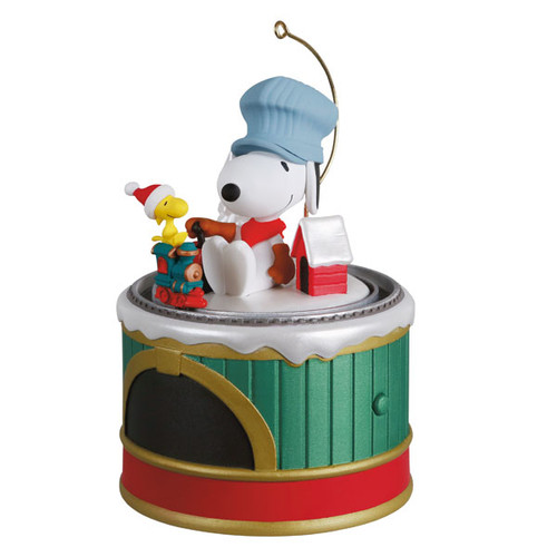 The Peanuts® Gang Snoopy's Toy Train Ornament With Sound and Motion
