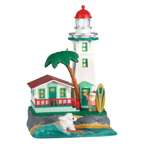 Holiday Lighthouse 2021 Ornament With Light
