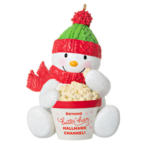 """Nothing """"Butter"""" Than Hallmark Channel Snowman Ornament"""
