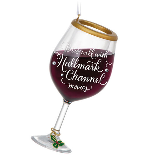 Hallmark Channel The Perfect Pairing Wine Glass Ornament