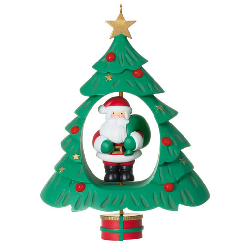 Spinning Santa Ornament With Motion