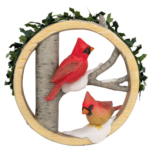 Marjolein's Garden Christmas Cardinals Ornament