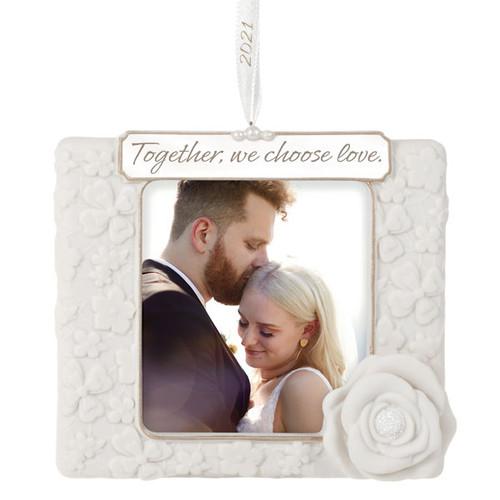 We Choose Love 2021 Porcelain Photo Frame Ornament