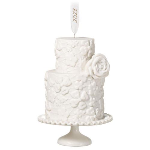 We Do Wedding Cake 2021 Porcelain Ornament