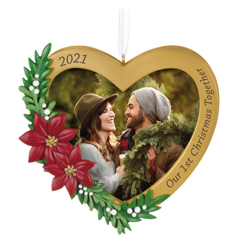 Our First Christmas Together 2021 Photo Frame Ornament