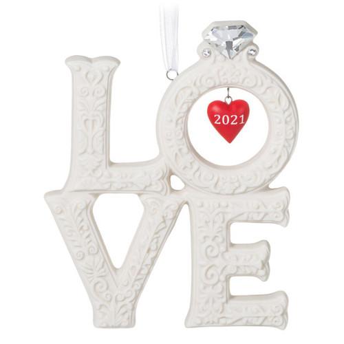We're Engaged! Love 2021 Porcelain Ornament