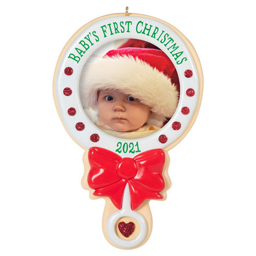 Baby's First Christmas 2021 Photo Frame Ornament