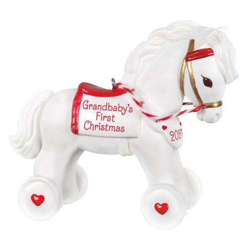 Grandbaby's First Christmas 2021 Porcelain Ornament
