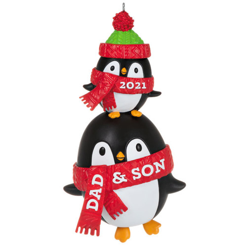 Dad & Son Penguins 2021 Ornament