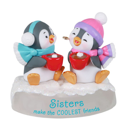 Sisters and Friends Penguins Ornament