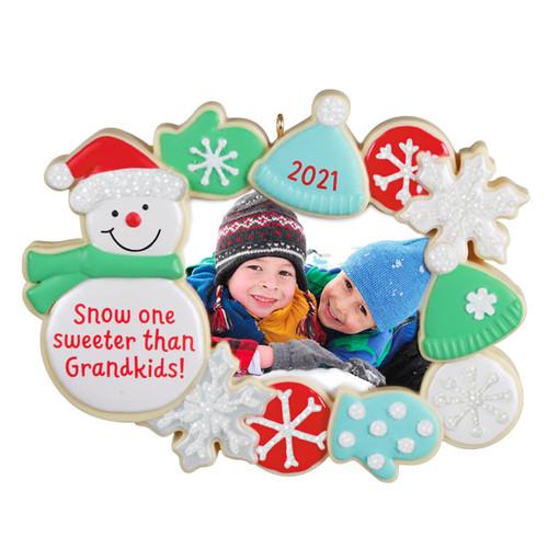 The Sweetest Grandkids 2021 Photo Frame Ornament