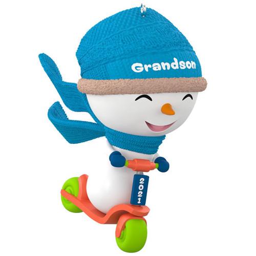 Grandson Snowman 2021 Ornament