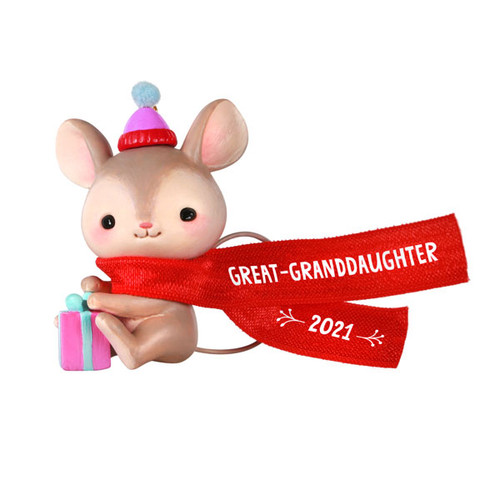 Great-Granddaughter Mouse 2021 Ornament