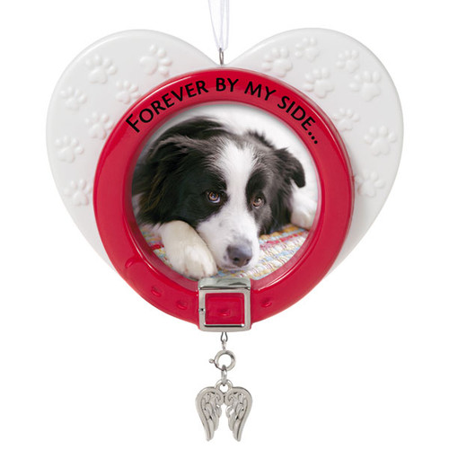 Forever By My Side Porcelain Picture Frame Memorial Pet Ornament