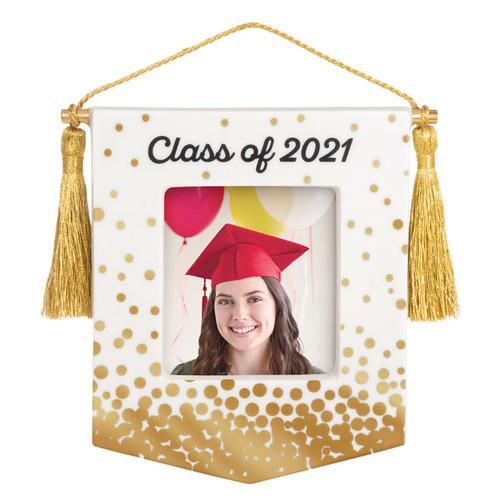 Congrats, Grad! Class of 2021 Porcelain Photo Frame Ornament