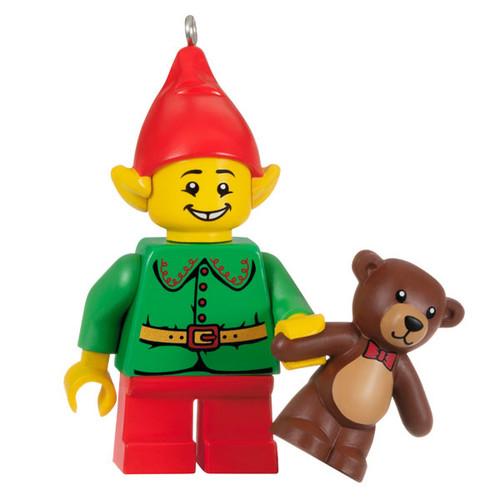 LEGO® Elf and Teddy Minifigure Ornament
