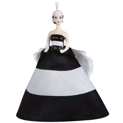 Barbie™ Black & White Forever™ Porcelain and Fabric Ornament