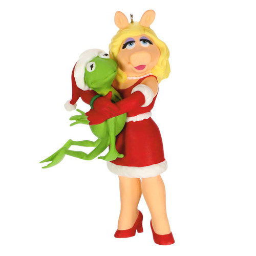 The Muppets Kermit's Holiday Hug Kermit and Miss Piggy Ornament