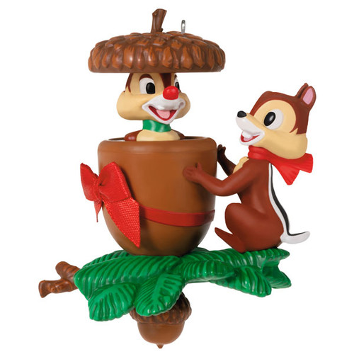 Disney Chip and Dale In a Nutshell Ornament With Motion