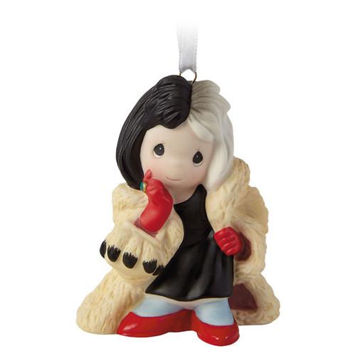 Disney 101 Dalmatians Cruella De Vil Precious Moments® Porcelain Ornament