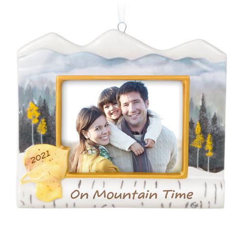 On Mountain Time 2021 Porcelain Photo Frame Ornament