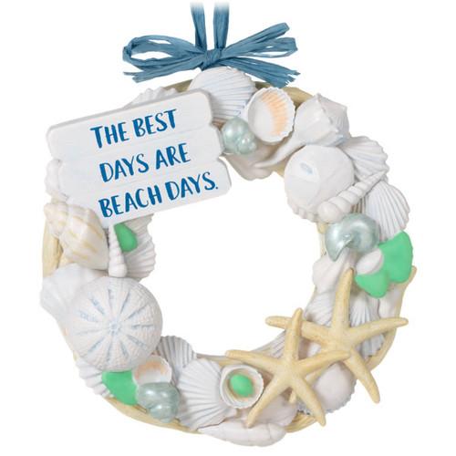 A Day at the Beach Sea Shell Wreath Ornament