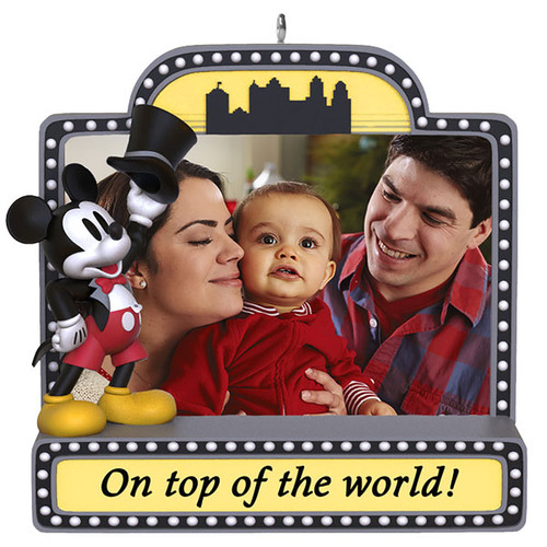 Disney Mickey Mouse On Top of the World! Photo Frame Ornament