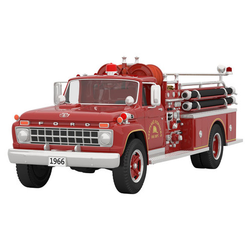 Fire Brigade 1966 Ford Fire Engine 2021 Metal Ornament With Light